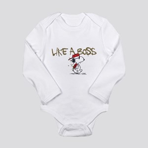 Peanuts Snoopy Like A Long Sleeve Infant Bodysuit