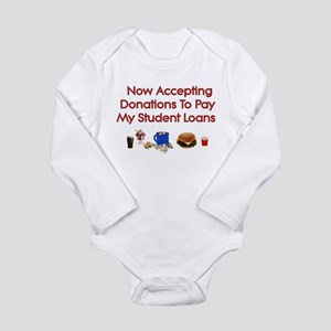 Student Loan Donations Long Sleeve Infant Bodysuit