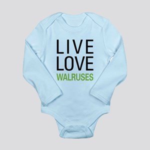 Live Love Walruses Long Sleeve Infant Bodysuit