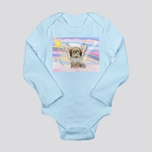 Angel Shih Tzu in Clouds Long Sleeve Infant Bodysu