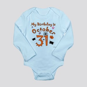 Halloween Birthday Long Sleeve Infant Bodysuit