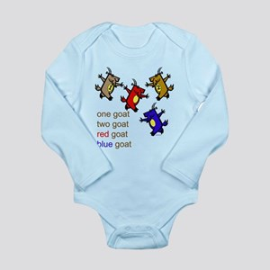 Red Goat Blue Goat Long Sleeve Infant Bodysuit