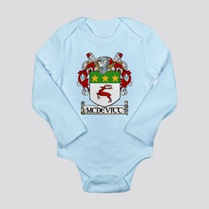 McDevitt Coat of Arms Long Sleeve Infant Bodysuit