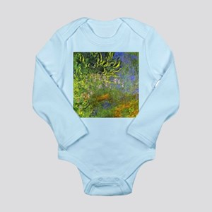 Monet Iris at the sea-rose pond Long Sleeve Infant