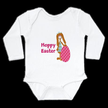 Customizable: Hoppy Easter Long Sleeve Infant Body
