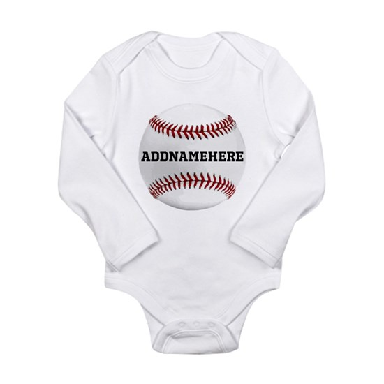 Personalized Name Baseball Red/White