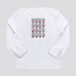 Uke Chord Cheat White Long Sleeve Infant T-Shirt