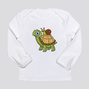 Cute & Funny Snail Riding Long Sleeve T-Shirt