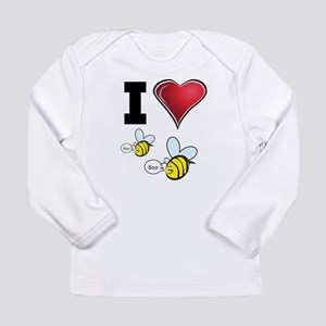 I Love Boo Bees Long Sleeve Infant T-Shirt