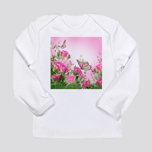 Butterfly Flowers Long Sleeve Infant T-Shirt