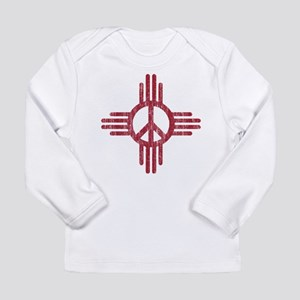 New Mexico Peace Sign Long Sleeve T-Shirt