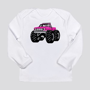 Pink MONSTER Truck Long Sleeve Infant T-Shirt