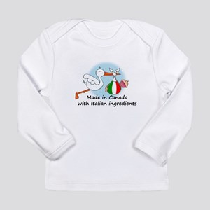 Stork Baby Italy Canada Long Sleeve Infant T-Shirt