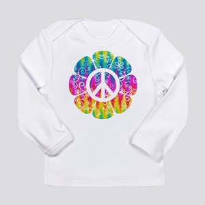 Colorful Peace Flower Long Sleeve Infant T-Shirt