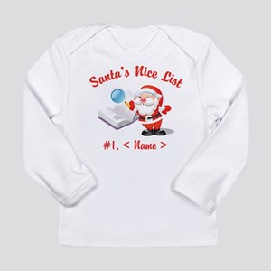 Personalized Santa's Nice List Long Sleeve Infant