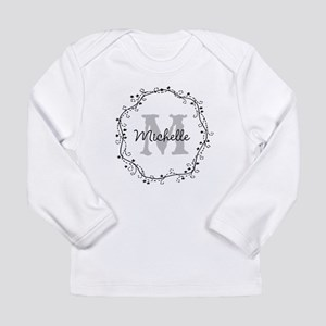 Personalized vintage monogram Long Sleeve T-Shirt