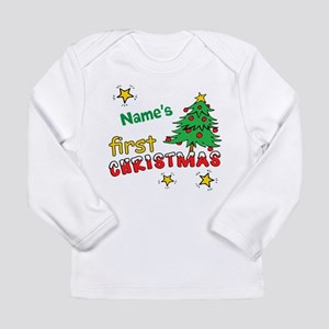 Custom First Christmas Long Sleeve Infant T-Shirt