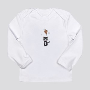 Cat with Kite Long Sleeve T-Shirt
