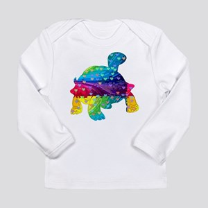 Rainbow Turtle With Multicolor Long Sleeve T-Shirt