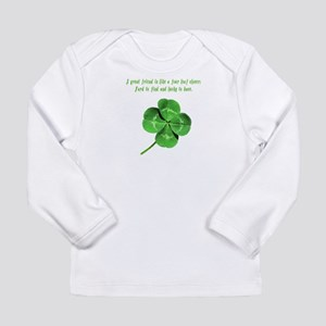 4 Leaf Clover Luck Long Sleeve Infant T-Shirt