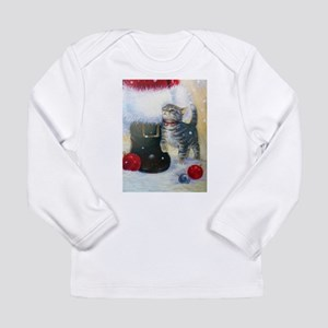 Kitten at Santa's Boot Long Sleeve T-Shirt
