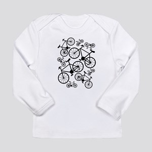 Bicycles Big and Small Long Sleeve Infant T-Shirt