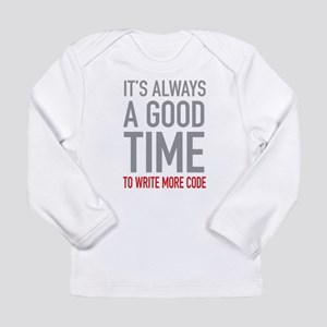 Write More Code Long Sleeve T-Shirt