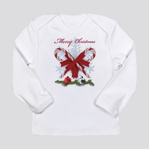 Candy Canes Merry Christmas de Long Sleeve T-Shirt