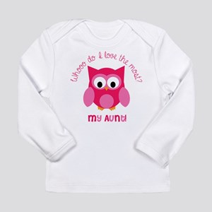 Who? My aunt! Long Sleeve Infant T-Shirt