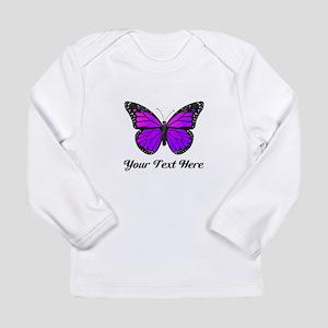 0e579d27c Purple Butterfly Custom Long Sleeve Infant T-Shirt