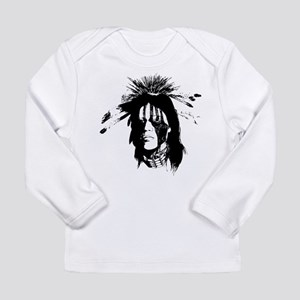 American Indian with Painted Face Long Sleeve Infa