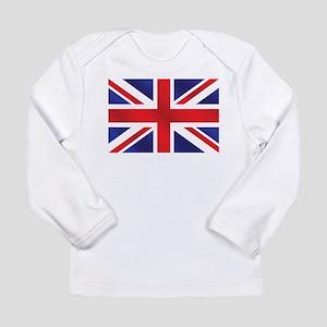 7f7e7dad Union Jack UK Flag Long Sleeve Infant T-Shirt