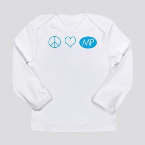 Peace Love Melrose Place Long Sleeve Infant T-Shir