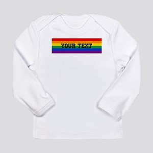 Personalize Rainbow Long Sleeve Infant T-Shirt