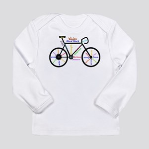 Bike made up of words to motiv Long Sleeve T-Shirt