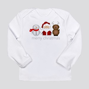 Merry Christmas Characters Long Sleeve Infant T-Sh