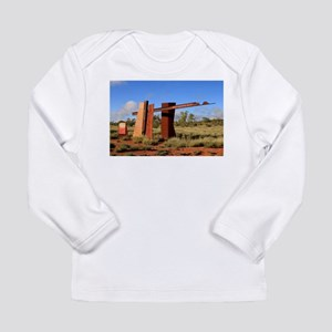 Red Centre Way sign, Outback A Long Sleeve T-Shirt