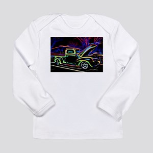 1940 Ford Pick up Truck Neon Long Sleeve T-Shirt