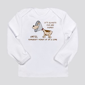 dog cone larry font 2 Long Sleeve T-Shirt