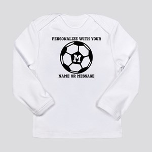 PERSONALIZED Soccer Ball Long Sleeve T-Shirt