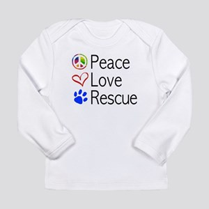 Infant Peace Love Rescue Long Sleeve T-Shirt