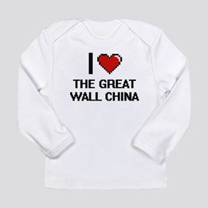 I love The Great Wall China di Long Sleeve T-Shirt
