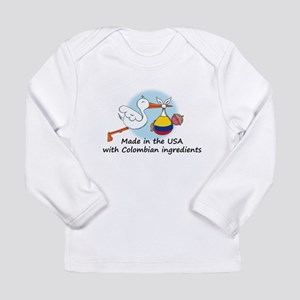 Stork Baby Colombia USA Long Sleeve T-Shirt
