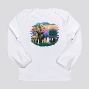 St Francis (ff)-7 Cats Long Sleeve Infant T-Shirt