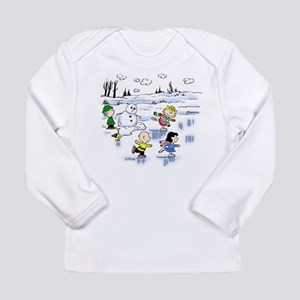 The Gang Goes Ice Skating Long Sleeve Infant T-Shi