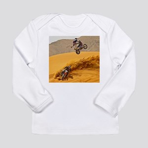 Motocross Riders Riding Sand Dunes Long Sleeve T-S