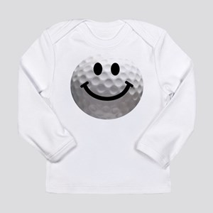 Golf Ball Smiley Long Sleeve Infant T-Shirt