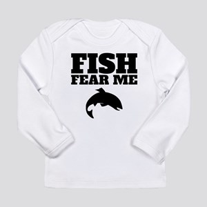 159d30f5 Fish Fear Me Long Sleeve Baby T-Shirts - CafePress