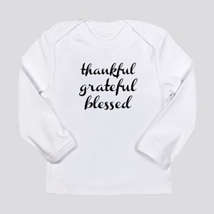 242595c2e thankful grateful blessed Long Sleeve T-Shirt