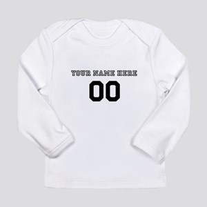 Personalized Baseball Long Sleeve Infant T-Shirt